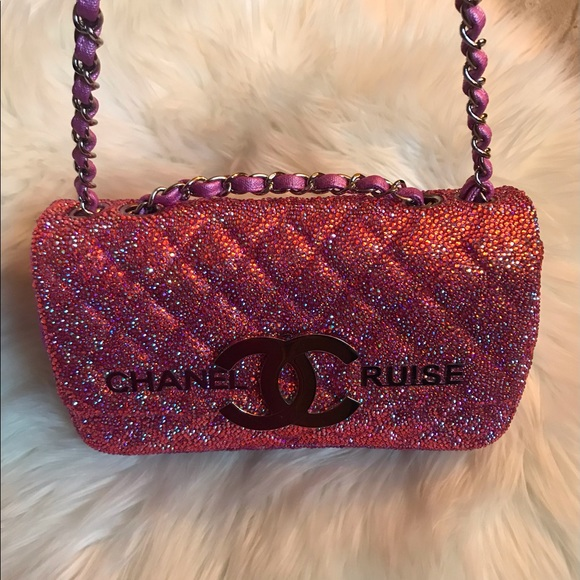 Authentic Chanel Cruise Crystal Shoulder Bag